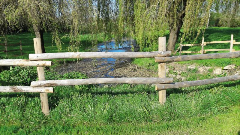 Piquets en clôture de terrain