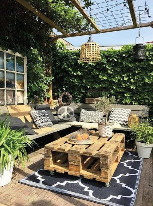 mobilier de jardin bois recyclé